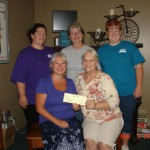Hiawatha Humane Society gets donation from the children in the summer reading program at the library!